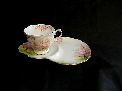 "Royal  Albert    ""  Blossom  Time  ""  Tennis Set Tea Cup & Snack Plate  - Mint"