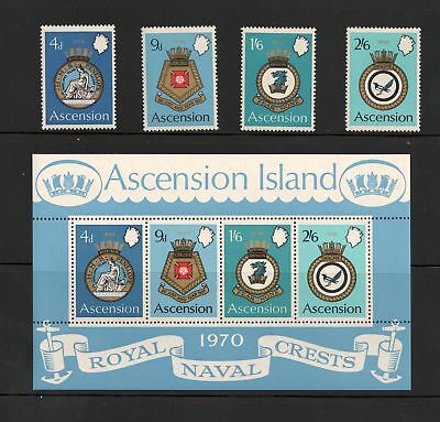 ASCENSION IS, Scott #'s 134 - 137a,  Naval Arms Type,  MNH, F-VF -