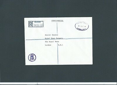 Royalty 1984 EIIR cachet Envelope REGISTERED BALMORAL CASTLE oval to Royal Mews