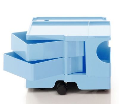 JOE COLOMBO BOBY TROLLEY STORAGE B12 BLUE B-LINE made in Italy