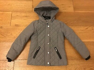 Girls River Island Coat Age 8 Years. Warm & Trendy!