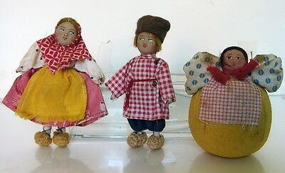 Group of 3 antique Russian dolls c.1930