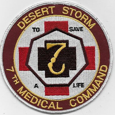 "Rare Original Ds ""7Th Medical Command"" Patch - Emb On Twill"