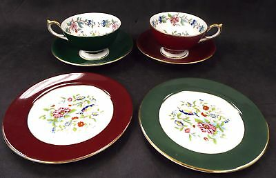 AYNSLEY Fine Bone China 6 Piece Tea Set Made in England - R34