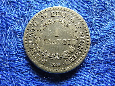 Italy Lucca 1 Franco 1808, Km23