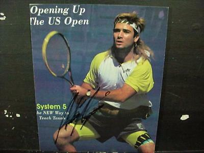 NobleSpirit NO RESERVE {3970} Signed ANDRE AGASSI Magazine Cover