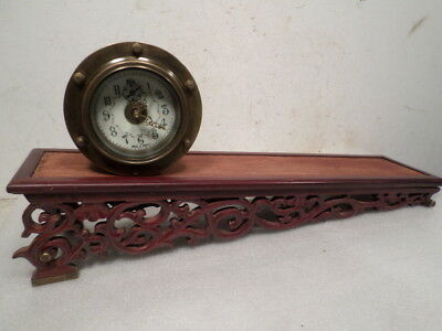 Brass Rolling Ball Clock With Wooden Plane--Never Wind The Clock!!