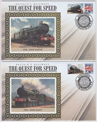 BRITAIN'S RAILWAY THE QUEST FOR SPEED 2x 2008 official illustrated covers