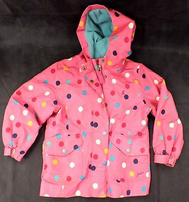 Girls JOULES Pink MultiColoured Polka Dot Coat/Jacket, Age 7 Years - C28