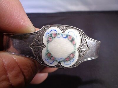 Antique Sterling Silver Guilloche Enamel *NAPKIN RING**