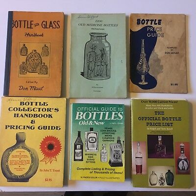 Lot of 6 Vintage Bottle Collecting Books Price Guides 1950-1970 Color Photos