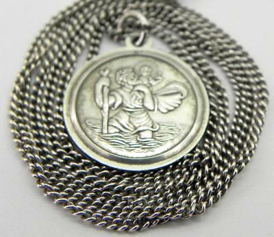 Vintage Silver St Christopher and Chain.