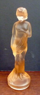 Art Deco Frosted Glass Lady Figure - for Center Piece