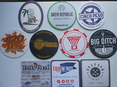 10 Craft Beer Coasters-Battleroad,fairwinds,yazoo,big Ditch,dragoon,ponderosa