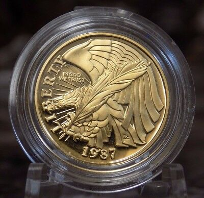 1987 Constitution $5 Gold Coin Proof Uncirculated Five-Dollar Gold We the People