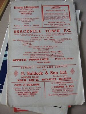 1970-71 Bracknell Town v Newquay FA Amateur cup 1st round