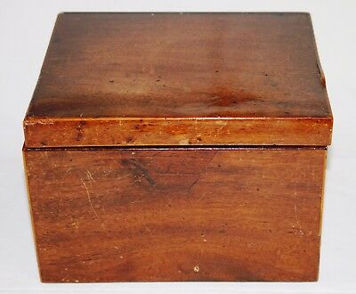 Antique Mahogany Sewing Box for Restoration Jewellery Stationery Trinket Treen