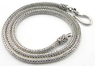 Solid Silver Suarti Style Necklace, 18.8gr, 16 inches.