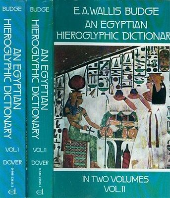 2-Volume Complete Egyptian 28,000 Word Hieroglyphic Dictionary Semitic Coptic