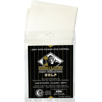 Gorilla Gold Reusable Tackifying Golf Grip Enhancer Towel