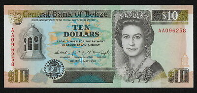 BELIZE (P54a) 10 Dollars 1990 UNC