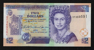BELIZE (P66c) 2 Dollars 2007 UNC