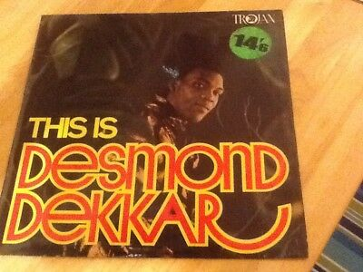 desmond dekker vinyl album (this Is Desmond Decker) 1969 VG COND
