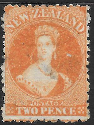 NEW ZEALAND 1871 2d orange watermark, used small surface blemish. SG 133.