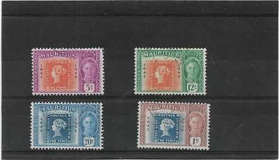 Mauritius 1948 Centenary Of First British  Colonial Postage Stamps Set Fine Used