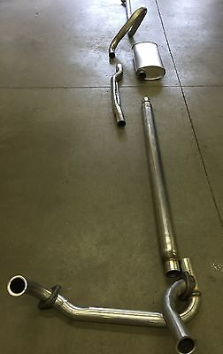 1965-1967 Cadillac Single Exhaust System, 304 Stainless With Resonator