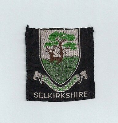 Old Scottish Boy Scout Badge - Selkirkshire County
