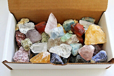 Bulk Crafters Collection 1/2 lb Box Gems Crystals Natural Raw Mineral 250g Rocks