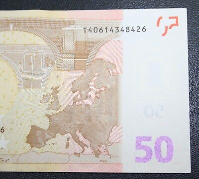 Ireland - 2002 Irish 50 EURO T Letter Banknote NEARLY UNCIRCULATED Currency Note