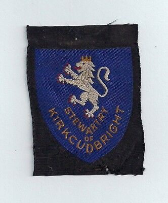 Old Scottish Boy Scout Badge - Stewartry of Kirkcudbright County