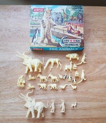 Airfix HO-OO 1/72 Zoo Animals Set 2 Complete Loose Set 21 Boxed + 4 Extra