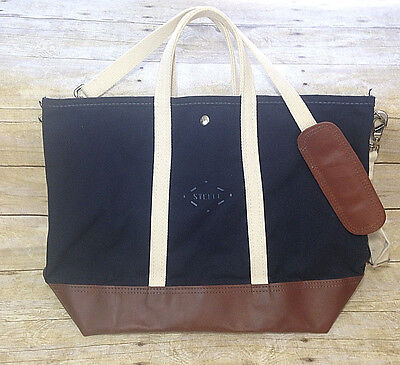 Nwt Steele Canvas Basket Corp For J. Crew Navy Bag Travel Tote Carry On 56259
