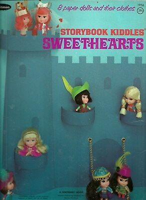 Storybook Kiddles Sweethearts Original Uncut 1969 Whitman 1956