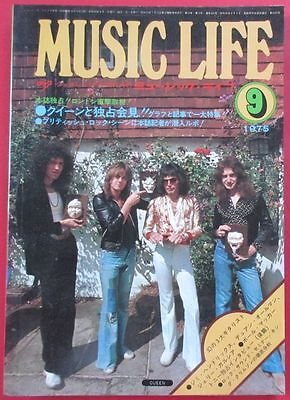 Music Life 1975 Sep Japan Vintage Magazine Queen Pink Floyd