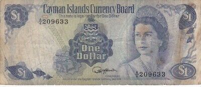 1974 Cayman Islands $1 Note, Pick 5a
