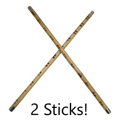 2 Escrima Kali Arnis Karate Fighting Rattan Sticks burned skin fire hardened