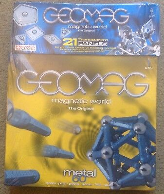 Geomag - 21 panels and 60 metal piece -BN - pls look at pictures