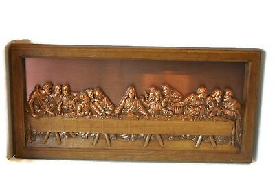 Vintage The Last Supper Copper Wall Art Raised Details Coppercraft Guild Canada