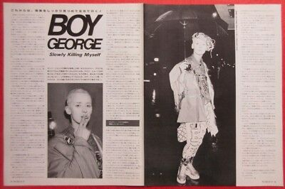 Boy George Culture Club 1987 Clipping Japan Magazine Cutting A7 D7 2Page