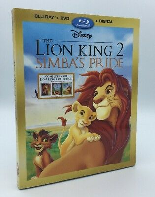 Lion King 2: Simbas Pride, The (Blu-ray+DVD+Digital, 2017) NEW w/ Slipcover