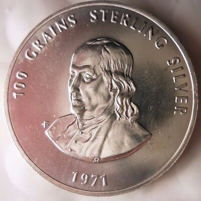1971 ITALY MEDAL - PRIVATE TREASURY - 100 Grains of Sterling Silver - Lot #119