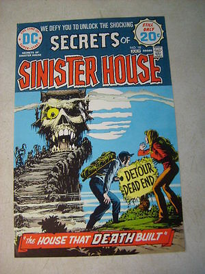 SECRETS of SINISTER HOUSE #18 COVER ART approval cover proof DEAD END, 1970'S