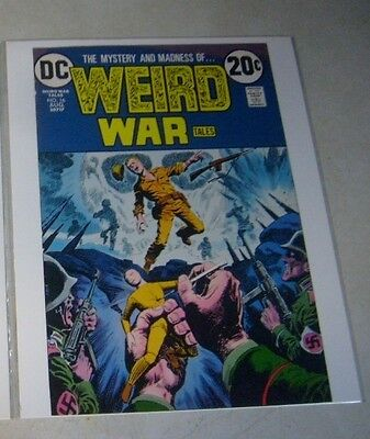 WEIRD WAR #16 COVER ART original approval cover proof 1970's, VOODOO DOLL