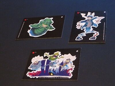1989 Ghostbusters Ii Lot Of 3 Nmint Trading Cards Stickers Of Monsters Puzzle