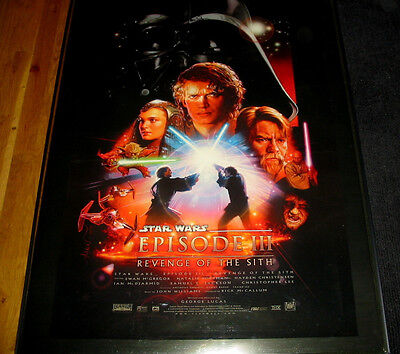 ROLLED Revenge of the sith star wars Double 2  sided original u.s. movie poster