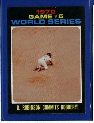 1971 Topps Set Break #331 Brooks Robinson WS5 NM-MT m32445
